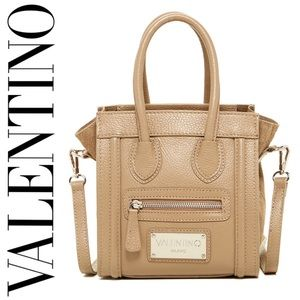🆕 Valentino Leidy Taupe Leather Mini Shoulder Bag